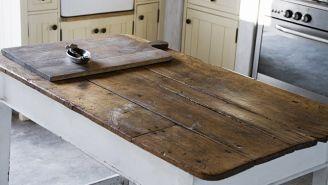table dessus en bois de grange