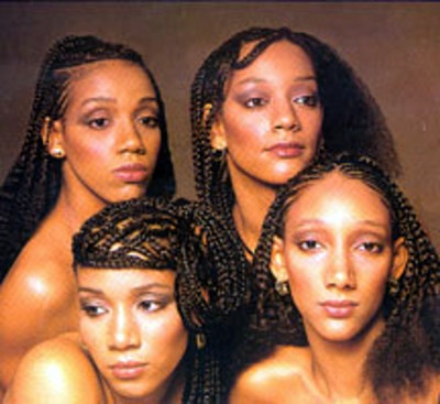 "We Are Family. Sister Sledge. Loved these ladies growing up! ""Thinking of You"" best song ever."