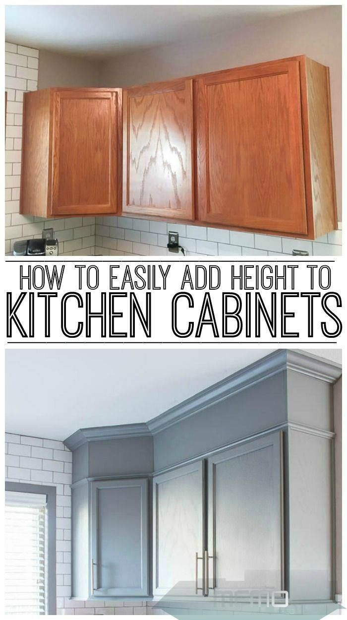 Jun 1 2019 Learn How To Easily Add Height To Your Kitchen Cabinets And Close In That Empty Kitchen Cabinet Inspiration Old Kitchen Cabinets Kitchen Cabinets
