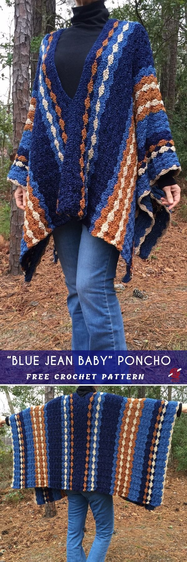 This amazing crochet poncho idea, using fabulous shell stitch which achives this…