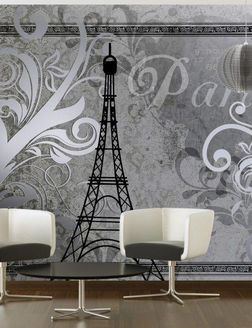Carta da Parati Parigi Vecchia Carta da Parati Fotomurale Tema Viaggi