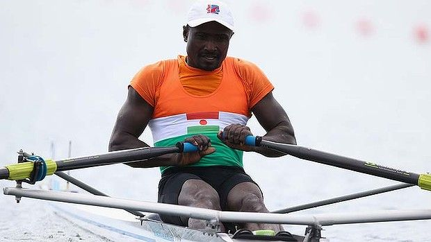 Hammadou Djibo Issaka ... rowing for only three months.