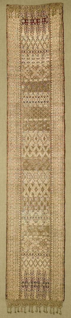 W-4770. Minangkabau Songket Runner. Sumatra