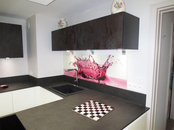 Cr dence en verre avec impression num rique glass splashbacks kitchen with d - Credence design impression ...