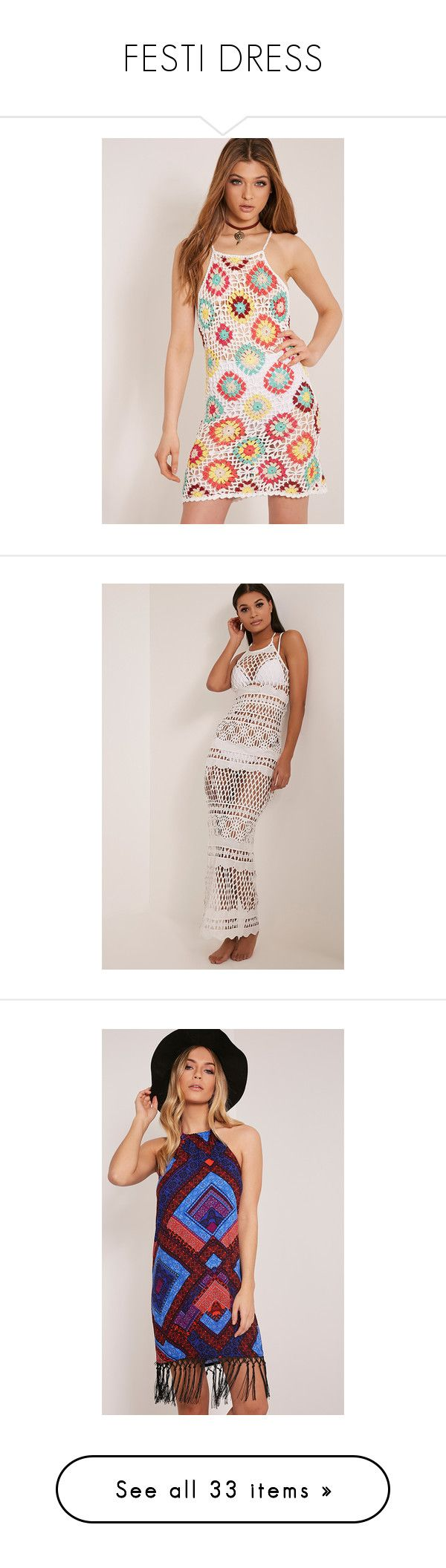 """FESTI DRESS"" by officialplt ❤ liked on Polyvore featuring dresses, white, white crochet dress, patchwork dress, white dress, white macrame dress, white day dress, hippy dress, crochet maxi dress and sexy crochet dress"