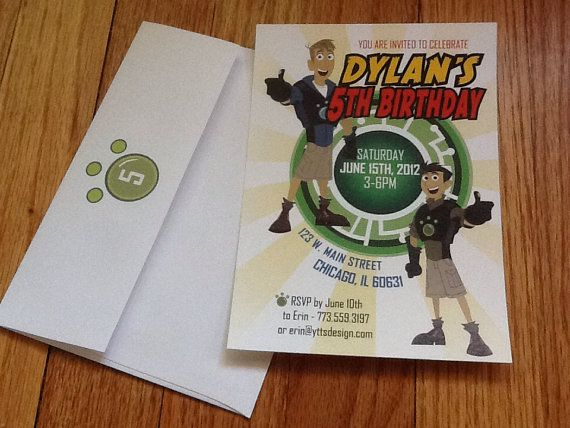 Wild Kratts Birthday Invitations by YourTimeToShine on Etsy