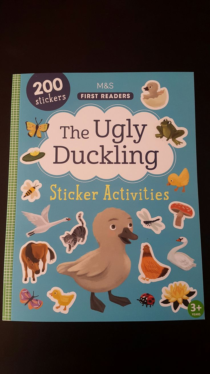Free coloring pages for the ugly duckling - The Ugly Duckling Sticker Book Livia Coloji Ugly Duckling Childrensbook Classic
