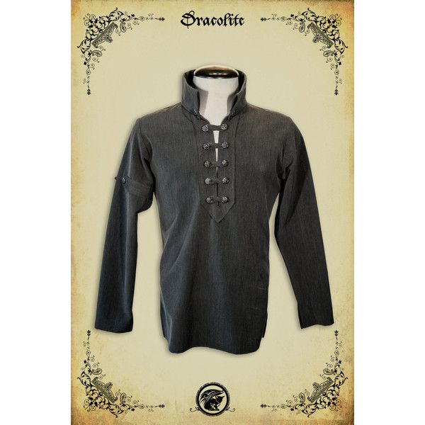 Medieval clothing Gregoire Shirt steam punk clothing medieval... (175 AUD) via Polyvore featuring costumes, victorian costumes, punk halloween costumes, victorian halloween costumes, punk rock halloween costume and punk rock costume