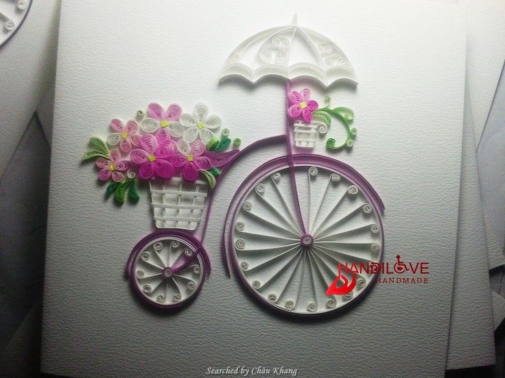 © Lan quilling- Quilled transport pictures (Searched by Châu Khang)
