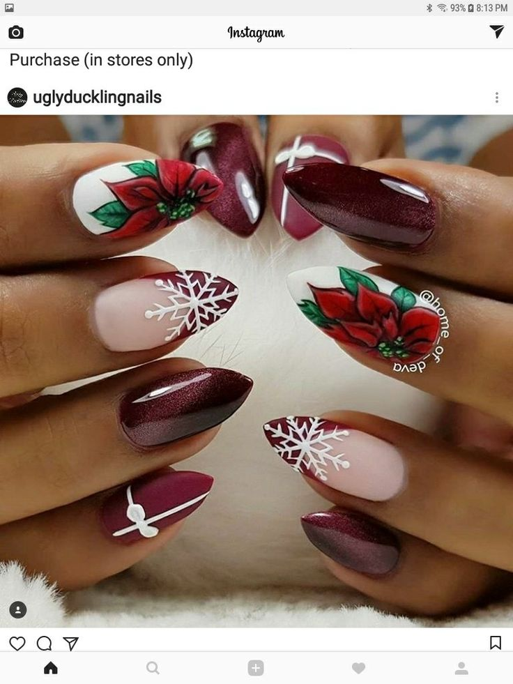 I really don't like the shape of these nails,  but the design is super cute!!!