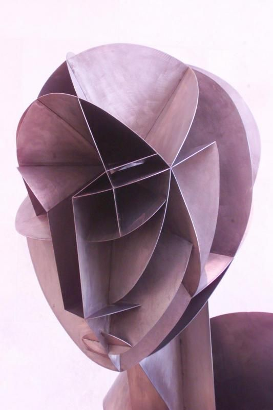 Naum Gabo: dessin cubiste en 3 dimensions (3D)
