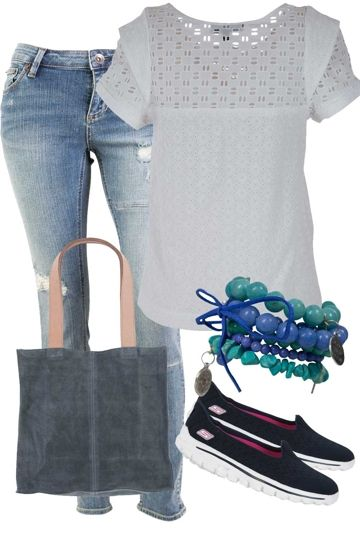 Denim Demure Outfit includes Ladakh, Riders By Lee, and Skechers - Birdsnest Online Clothing Store