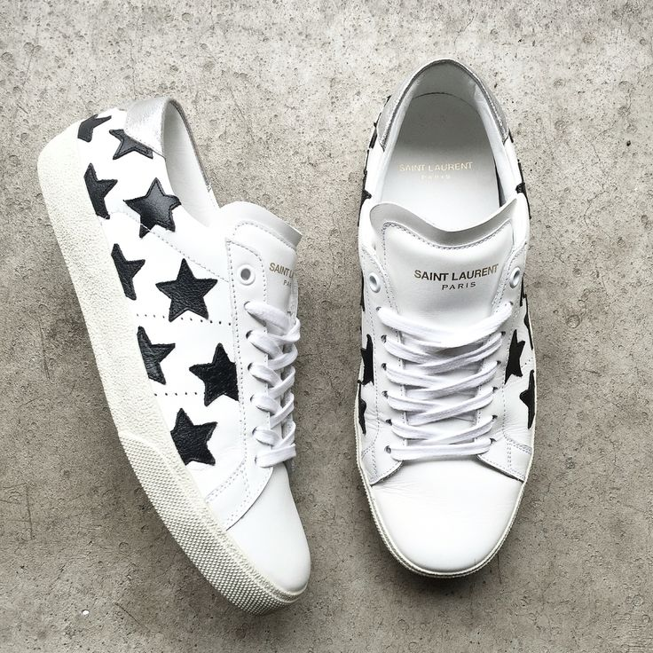 Saint Laurent Star Sneakers. ❤️ via OVRSLO