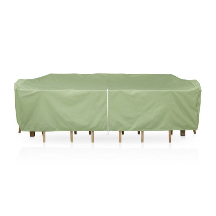 Delightful Shop Large Rectangular Table And Chair Outdoor Furniture Cover. Versatile  Umbrella Opening Cover Fastens With