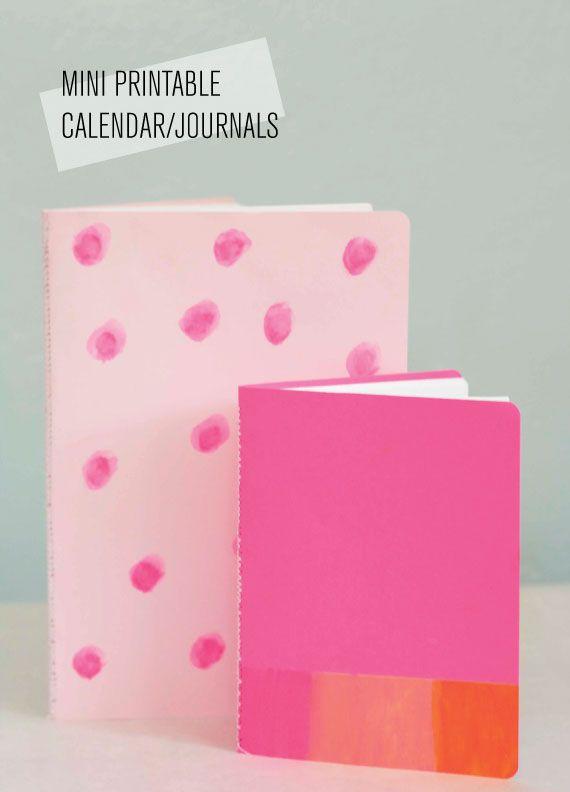 Fabriquer des petits carnets, journaux, agenda... IMPRIMABLE GRATUIT DIY