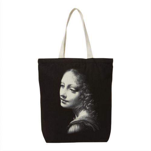 #Tote #bag imprimé de l'ange du tableau La Vierge aux rochers de Leonard de Vinci Prix 22 euros TTC #ange #leonarddevinci
