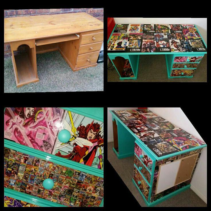 Kerbside rubbish desk to Avengers study