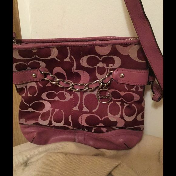 Couch satchel purse Satchel style maroon coach purse Coach Bags Satchels