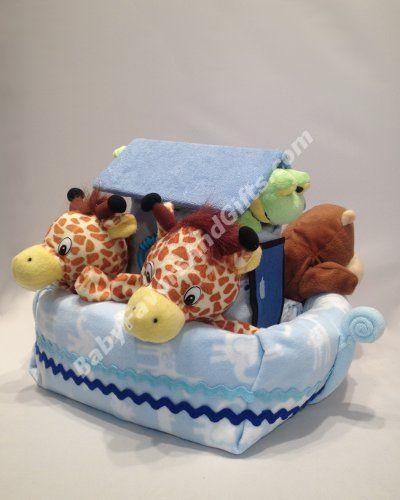 Noah's ark diaper cake!
