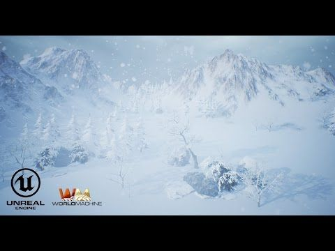 World Machine - Unreal 4 - Snow Map - YouTube