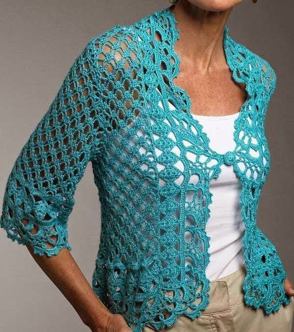 Free Crochet Pattern Lace Sweater : 345 best images about Crocheted Sweaters, Vests, and ...