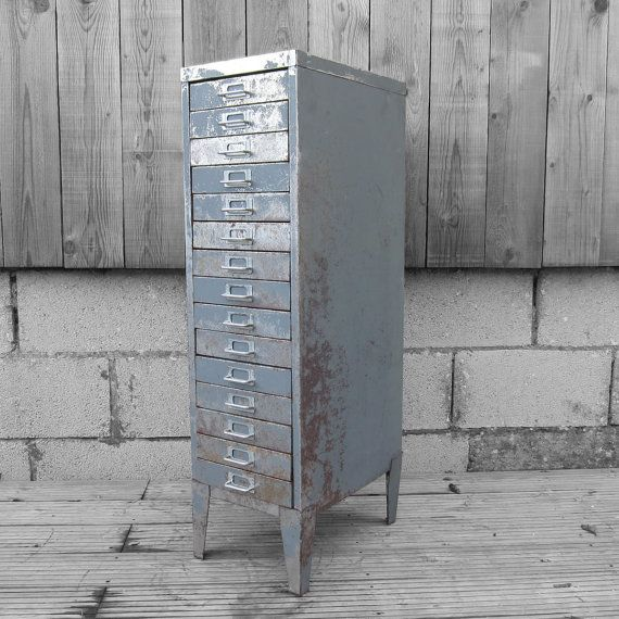 1950s 15 Drawer Original Old Metal by MagpiesVintageShop on Etsy, £165.00