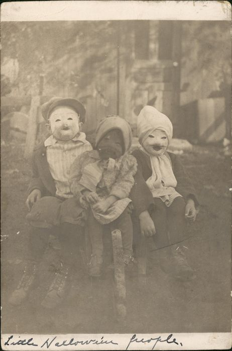 Vintage Halloween photos - creepier than anything at the Spirit store