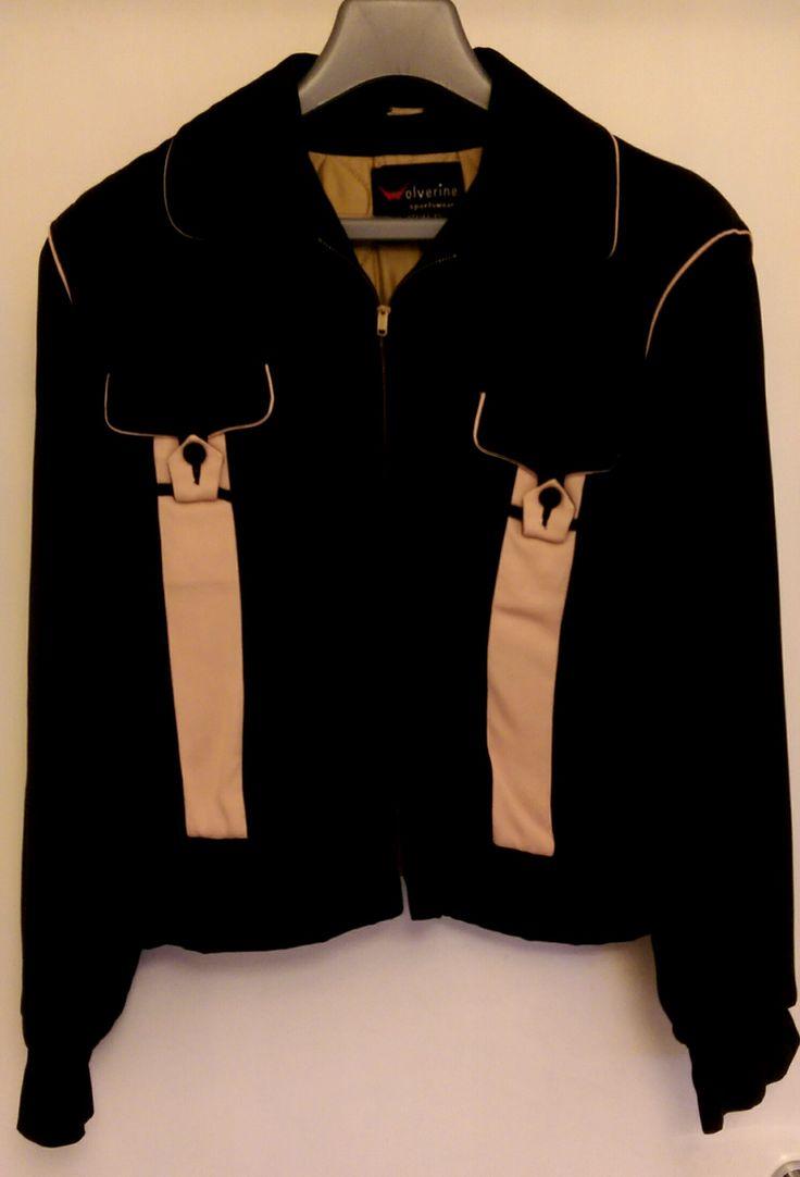 "1950s Pink & Black ""Wolverine"" gabardine jacket"