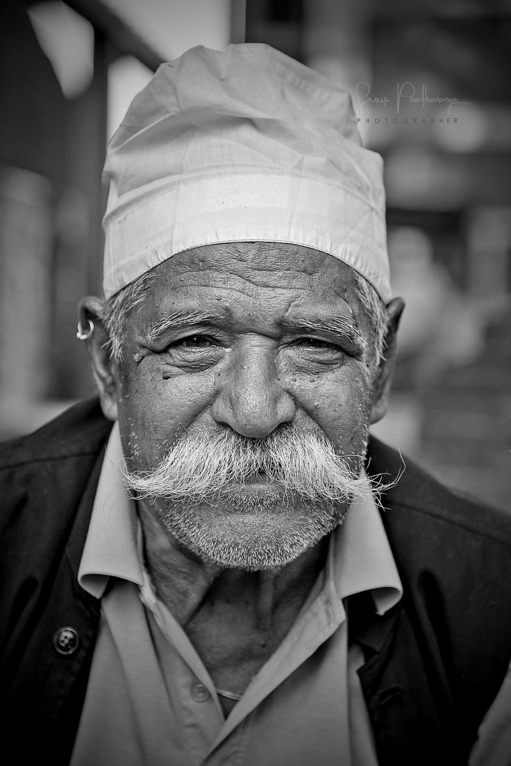 The Pride Of Sexy Mustache - An Old Man Smiling  Staying -2176