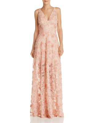 7ebbb63b4124 Avery G Floral Appliqué Gown - 100% Exclusive