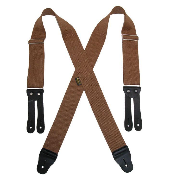 New Welch Men's Elastic Button End Work Suspenders