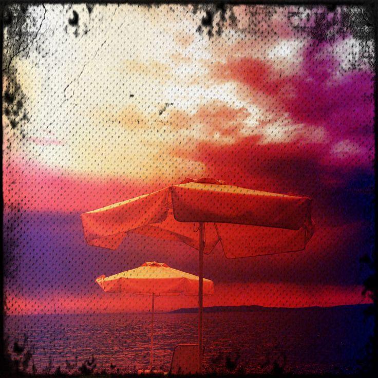 Umbrellas by the beach