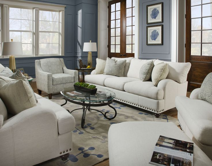 Franklin Furniture   Brinton Stationary 2 Piece Sofa Set In Off White    WHITE