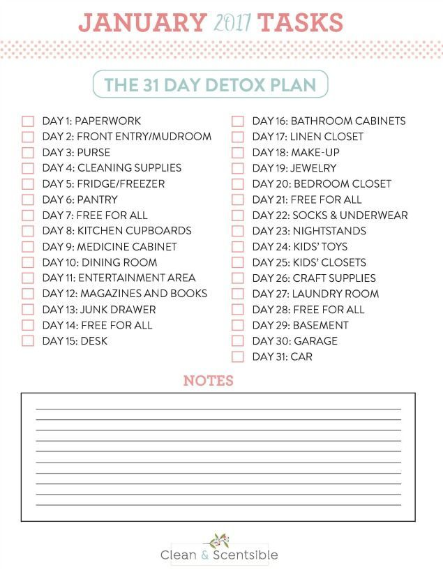 Jumpstart your home decluttering and organization with this 31 day home detox. Just 15 minutes per day to get rid of all of that unwanted stuff that's weighing you down! Start at any time!