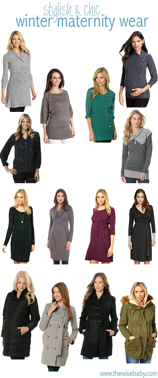 Stylish winter maternity clothes to keep you warm all winter long!