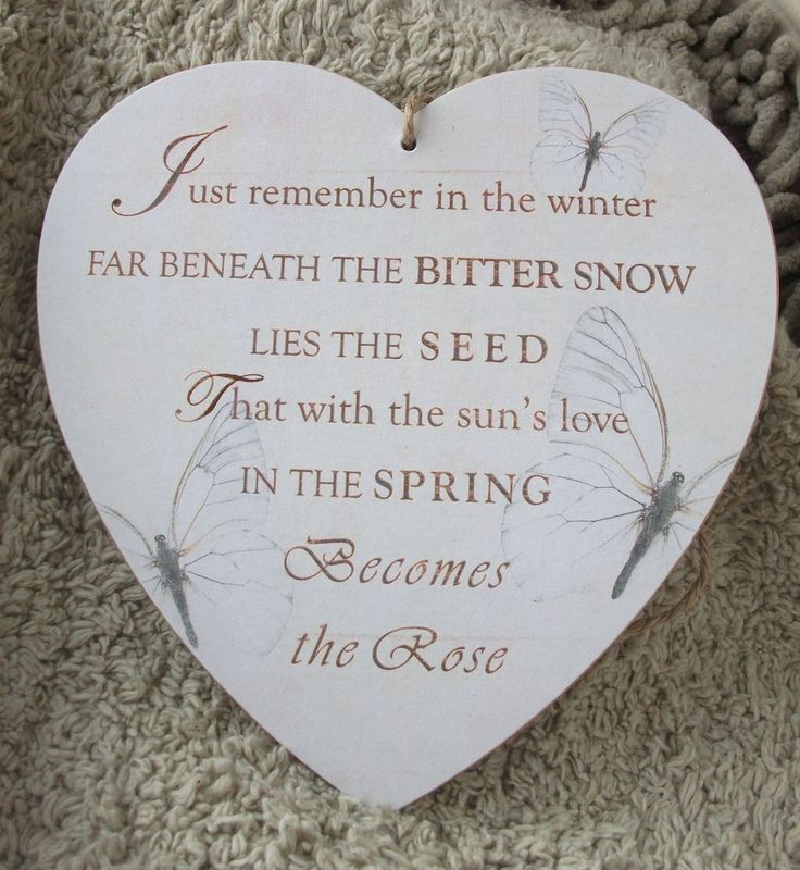 The seed becomes the rose, winter, snow, spring, HANDMADE plaque