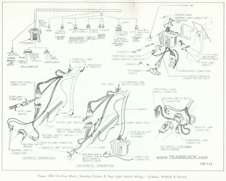 1966 buick lesabre  wildcat  electra  fuse block  steering