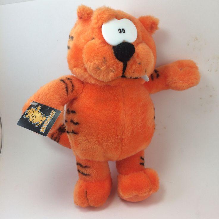Heathcliff orange cat plush 10 inch ginger feline snaggle tooth Nanco stuffed animal famous cartoon character by TheWabiSabi on Etsy
