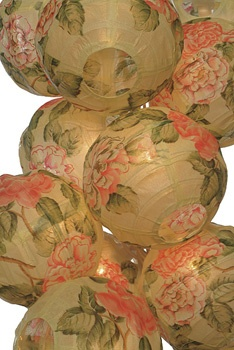 Peony Chinese Lantern String Lights