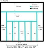 """Craftsman Series - Style C -Wide Silverware (Flatware) Organizer (C-FW-W-01)   Drawer Interior Width Range:   21 1/4"""" - 35"""""""