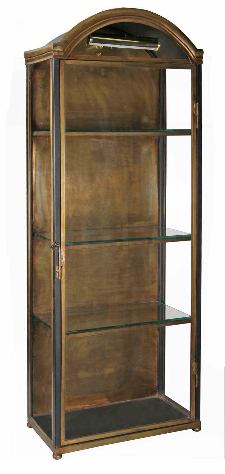 Pair of Vintage Vitrine Cabinets | From a unique collection of antique and modern vitrines at http://www.1stdibs.com/furniture/storage-case-pieces/vitrines/