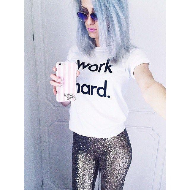 30% OFF NOR_FOLK www.jellydoor.com.auMaking the @nor_folk 'Work Hard' tee look super fine is Emily from @gottshot  We have these arriving in black too this week!! www.jellydoor.com.au #hotmumma #hotmomma #whitetee #hair #blue #tee #womensfashion #nor_folk #mumsofinstagram #fashion #momsofinstagram #jellydoor