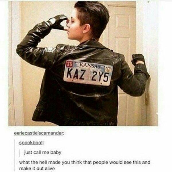 Perfect jacket!!! I want it Spn baby leather jacket KAZ 2Y5