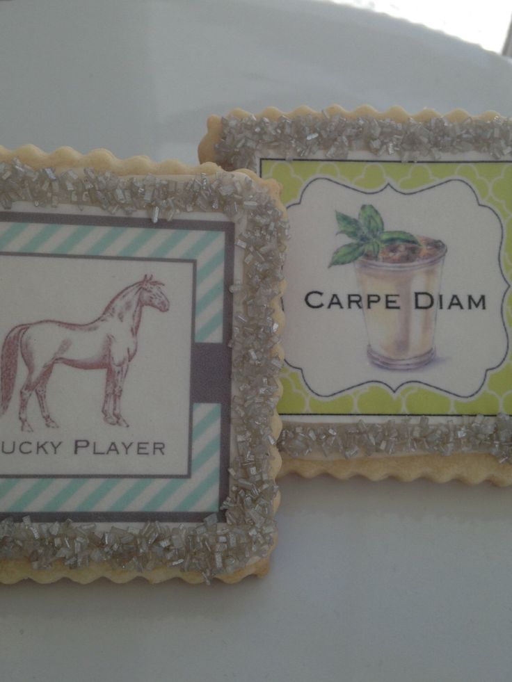 Kentucky derby cookie favors by StoneHouseOven on Etsy https://www.etsy.com/listing/225939097/kentucky-derby-cookie-favors