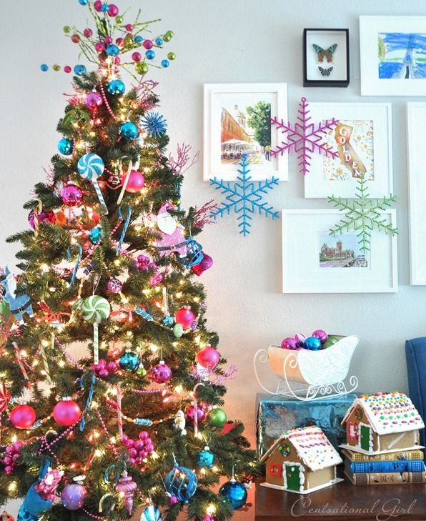 centsational girl blog archive candy colored christmas tree holiday good stuff pinterest christmas colorful christmas tree and christmas tree