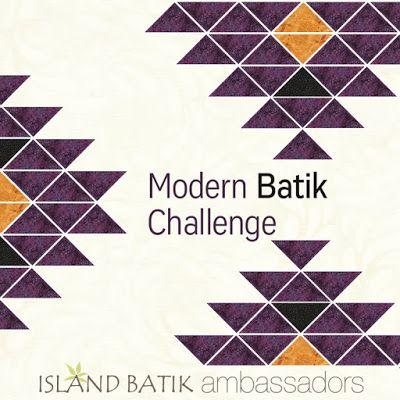 In my garden - A modern batik challenge