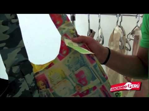 Bolsos Ecologicos Reciclados de Botellas plásticas en Gamarra Lima Peru - YouTube