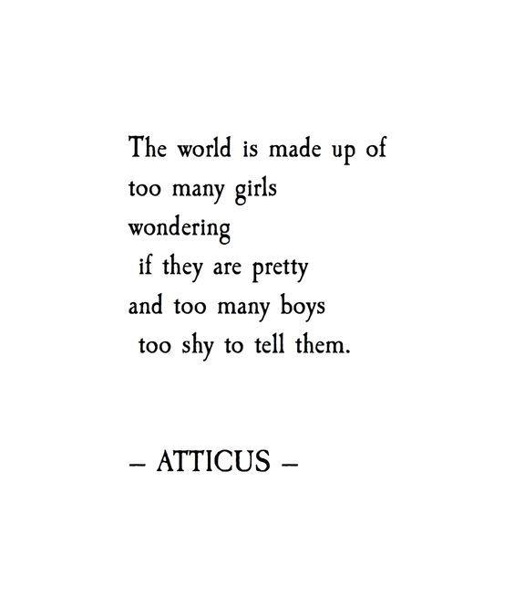 'Shy' #atticuspoetry #atticus #girls & #boys
