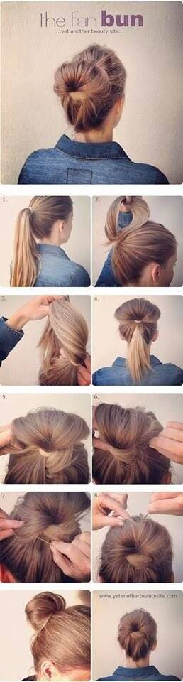 fan bun tutorial
