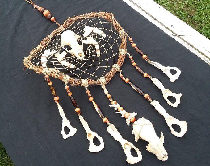 Real Animal Bone Jewelry Oddities Bone Dream By Firestormbones Dream Catcher Animal Skulls Dream Catcher Art